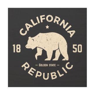 Logotipo el | de California el Golden State Impresión En Madera