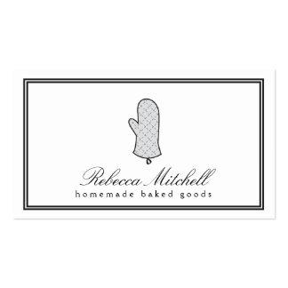 Logotipo elegante II del mitón del horno para la p Tarjetas De Visita