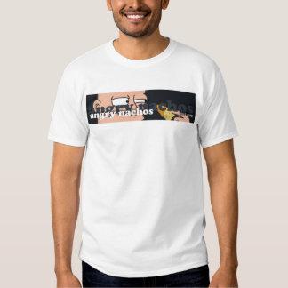 logotipo enojado de los nachos camisetas