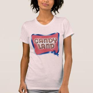 Logotipo envejecido tierra del caramelo camiseta