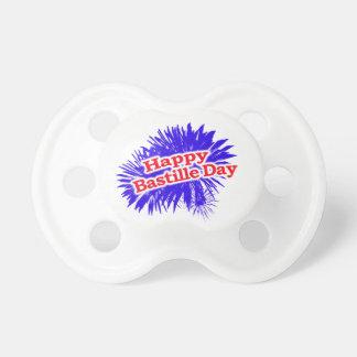 Logotipo feliz del gráfico del día de Bastille Chupete