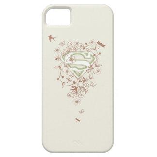 Logotipo floral verde de Supergirl iPhone 5 Case-Mate Coberturas