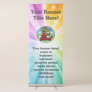 Logotipo/foto promocionales del negocio de la pancarta retráctil