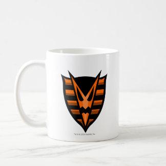 Logotipo frecuentado equipo de maderas tazas de café
