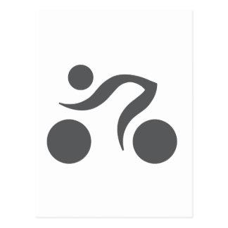 Logotipo fresco de ciclo postal