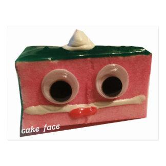 logotipo fresco de la cara de la torta del azote postal