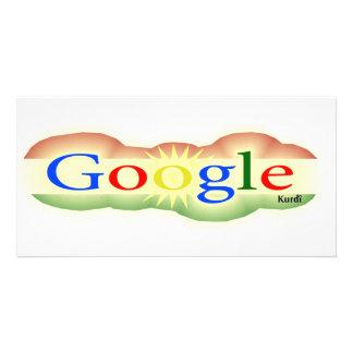 Logotipo Google para todo el Kurd Tarjetas Personales Con Fotos
