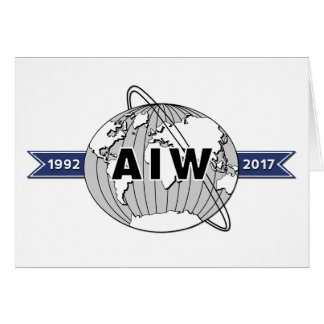 Logotipo grande 5x7 del aniversario de AIW 25to Tarjeta De Felicitación