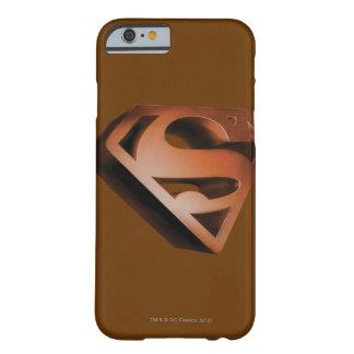 Logotipo granoso 3D del S-Escudo el | del Funda Barely There iPhone 6