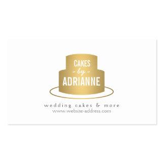 Logotipo I de la torta del oro para la panadería Plantilla De Tarjeta Personal