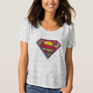 Logotipo impreso el | del S-Escudo del superhombre Camiseta