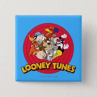 Logotipo LOONEY del carácter de TUNES™ Chapa Cuadrada