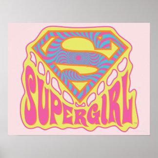 Logotipo maravilloso de Supergirl Póster