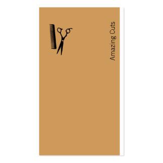 Logotipo (marrón del desierto) tarjetas de visita