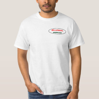 Logotipo milenario de la camiseta. Generación-y Camiseta