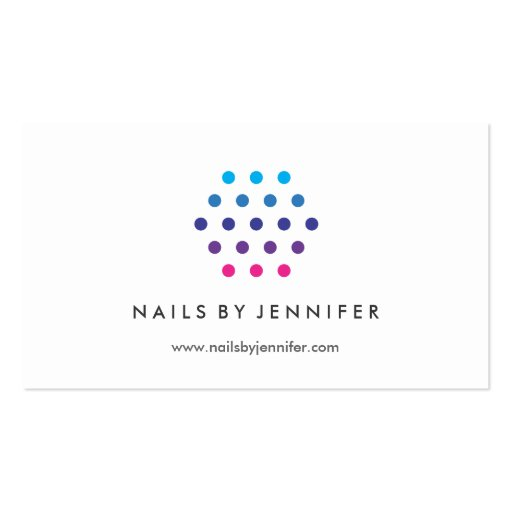 Logotipo moderno de la cadera - salón del clavo, tarjetas de visita