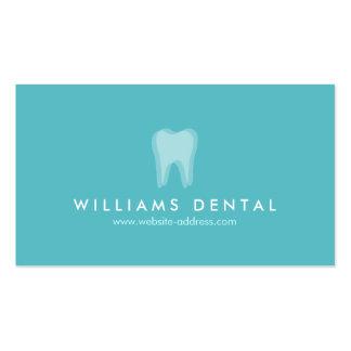 Logotipo moderno del diente de la aguamarina del tarjetas de visita