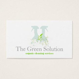 Logotipo natural de la botella del aerosol del tarjeta de visita