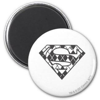 Logotipo negro de Supergirl Argyle Imán Redondo 5 Cm