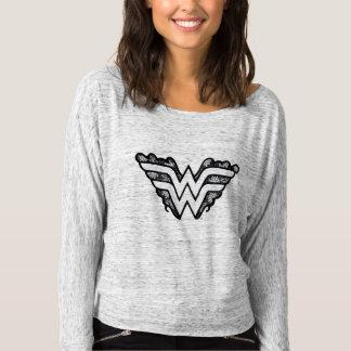 Logotipo negro del cordón de la Mujer Maravilla Camiseta