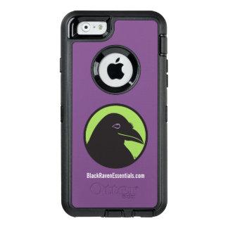 Logotipo negro del esencial del cuervo - caso del funda OtterBox defender para iPhone 6