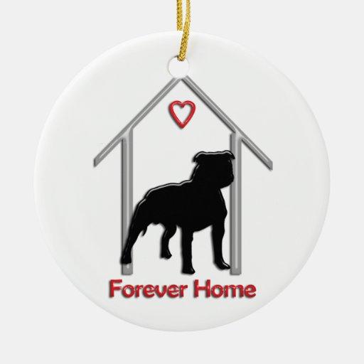 Logotipo negro para siempre casero de Pitbull Adorno Para Reyes