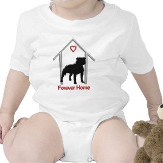 Logotipo negro para siempre casero de Pitbull Traje De Bebé