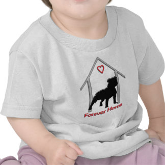 Logotipo negro para siempre casero de Pitbull Camiseta