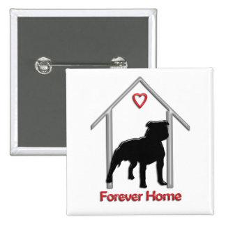 Logotipo negro para siempre casero de Pitbull Pins