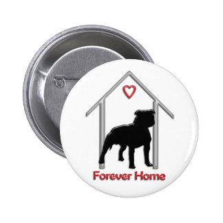 Logotipo negro para siempre casero de Pitbull Pin