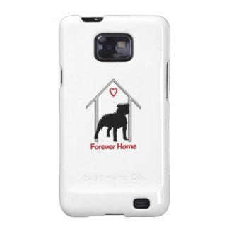 Logotipo negro para siempre casero de Pitbull Samsung Galaxy S2 Funda