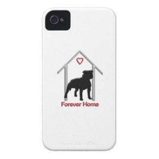 Logotipo negro para siempre casero de Pitbull Case-Mate iPhone 4 Carcasa