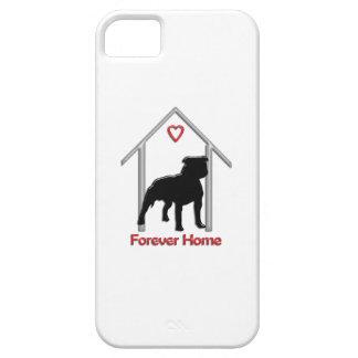 Logotipo negro para siempre casero de Pitbull iPhone 5 Case-Mate Fundas