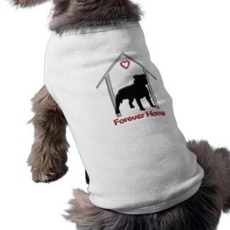 Logotipo negro para siempre casero de Pitbull Ropa De Perro