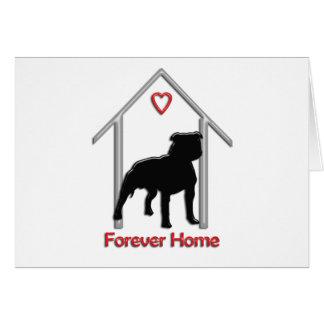 Logotipo negro para siempre casero de Pitbull Tarjetón