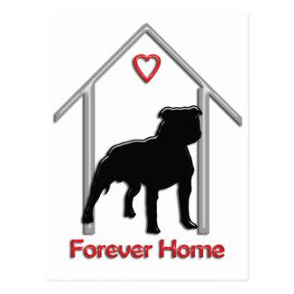 Logotipo negro para siempre casero de Pitbull Postal