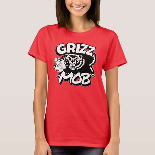 Logotipo negro y blanco de la multitud de Grizz - Camiseta