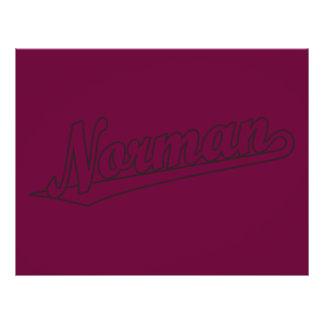 Logotipo normando de la escritura en el esquema ap tarjetas publicitarias