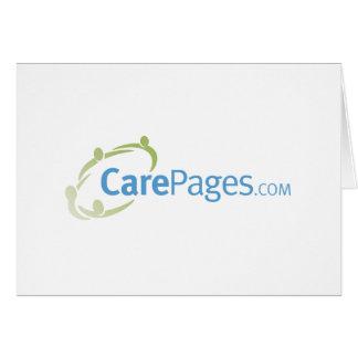 Logotipo Notecards - personalizable de CarePages Tarjeta Pequeña