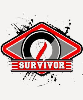 Logotipo oral del Grunge del superviviente del Camisetas