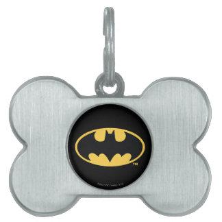 Logotipo oval del símbolo el   de Batman Placas Mascota