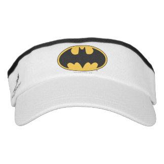 Logotipo oval del símbolo el | de Batman Visera