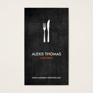 Logotipo para abastecer, cocinero, restaurante de tarjeta de negocios