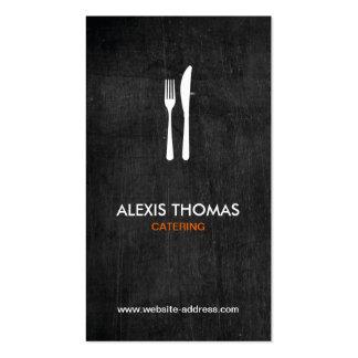 Logotipo para abastecer, cocinero, restaurante de tarjetas de visita
