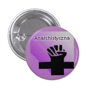 Logotipo político de Anarchistyczna Chapa Redonda 2,5 Cm