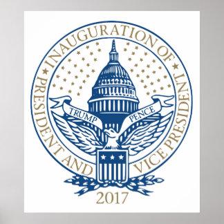 Logotipo presidencial 2017 de los peniques del póster