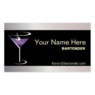Logotipo púrpura de Martini de la tarjeta de visit