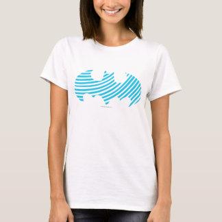 Logotipo rayado azul del símbolo el | de Batman Camiseta