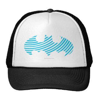 Logotipo rayado azul del símbolo el   de Batman Gorro De Camionero