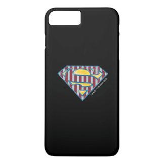 Logotipo rayado del S-Escudo el   del superhombre Funda Para iPhone 8 Plus/7 Plus